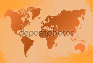Векторная карта мира