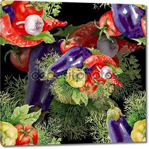 Овощной фон