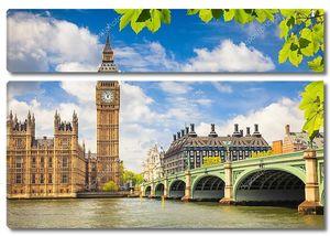 Биг Бен, Лондон летом