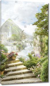 Ступени над водопадами