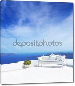 Красивые свадебные украшения на острове Санторини