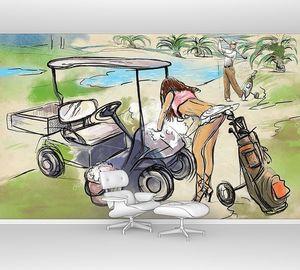 Очаровательный игрок в гольф
