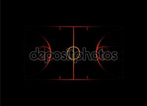Пылающий баскетбольная площадка