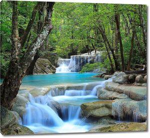 водопад erawan, Канчанабури, Таиланд