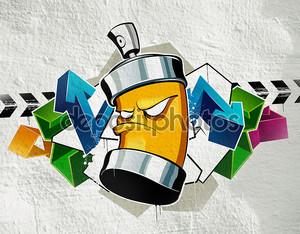 Прохладном граффити изображение