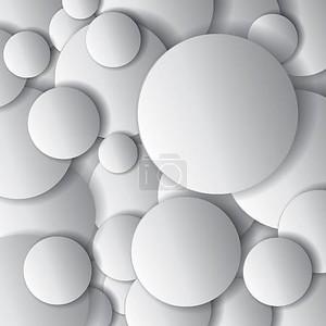 Вектор круги, минимальными объектов, абстрактные векторные дизайн композиции
