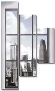 Вид на город и современную архитектуру
