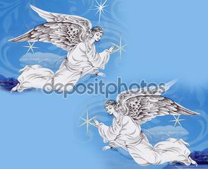 Рождественские Ангелы в небе