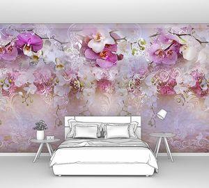 абстракция с орхидеями