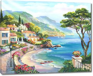 Солнечный городок на берегу моря
