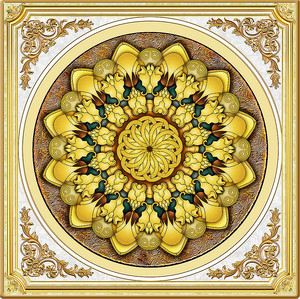 Золотая объемная розетка