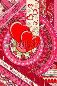 Розовый фон с сердечками