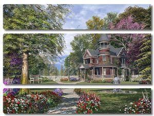 Трехэтажный дом в парке
