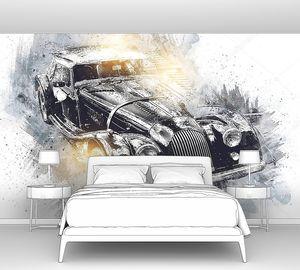 Старый классический автомобиль ретро