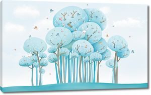 Голубой лес