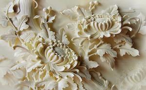 Цветы. Резьба по кости