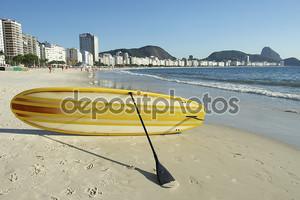 встать весло серфинг copacabana Рио Бразилия