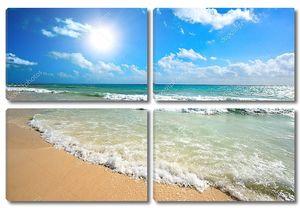 Красивый пляж и море