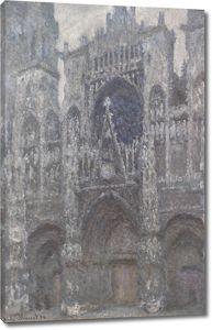 Моне Клод. Руанский Собор, Пасмурная Погода, 1894