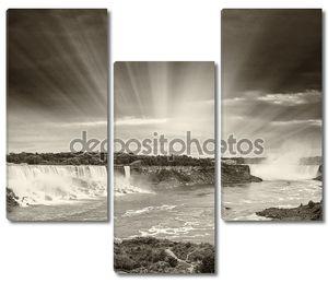 Черно-белый Ниагарский водопад