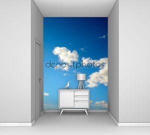 Облака в голубом небе