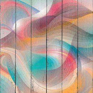 Абстрактный фон с преобразовывая светя формы. Вектор иллю