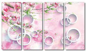 Колечки с розовыми веточками