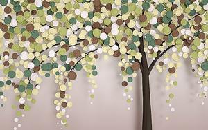 Дерево с листьями из кружочков