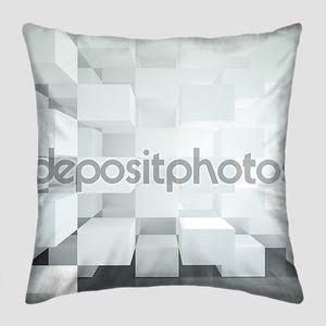 Абстрактная архитектура из белых кубов
