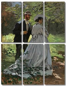 Моне Клод. Завтрак на траве (этюд), 1865