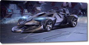 3D рендеринг брендового универсального концепт-кара