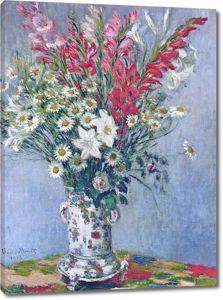 Моне Клод. Букет гладиолусов, лилий и ромашек, 1878