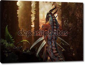 Дракон в волшебный лес