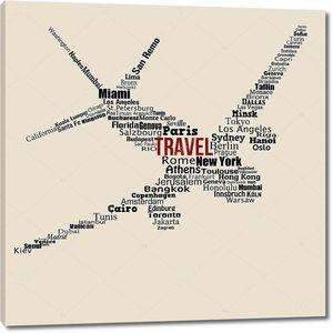 путешествия концепции мира выступил со словами на самолете