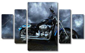 мотоцикл на шторме