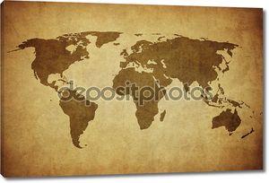 старинная карта мира