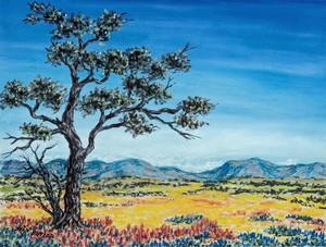 Одинокое дерево в долине