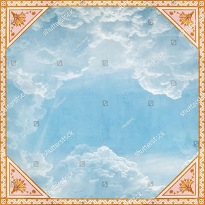 Небо с облаками с орнаментом