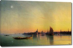 Айвазовский. Вид Венеции с лагуны при закате