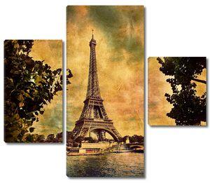 Рисунок Эйфелевой башни с деревьями