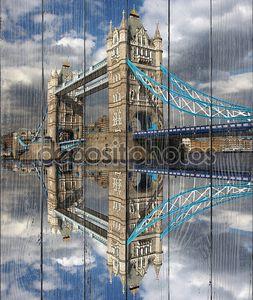 знаменитый Тауэрский мост, Лондон, Великобритания