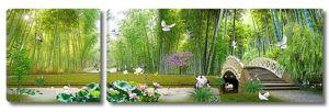 Ажурный мостик в бамбуковом лесу