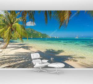 Кокосовые пальмы на пляже на Таити