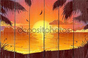 Романтический Тропический закат