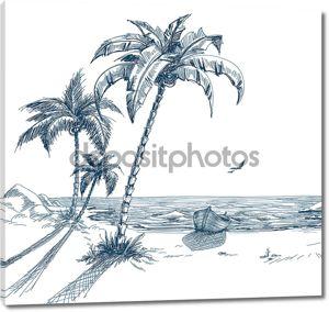 Летний пляж