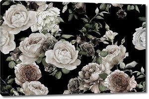 Розы панно