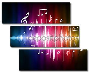 Цвет спектра импульса с музыкальными нотами