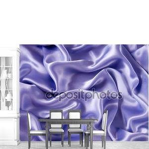 Сиреневая атласная шелковой ткани