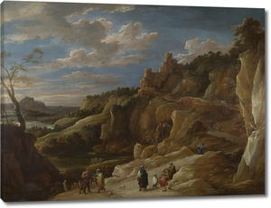 Тенрис Давид (Младший). Цыганка-гадалка в скалистом пейзаже