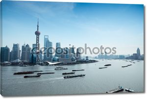 Шанхай Пудун и реку Хуанпу